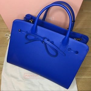 Mansur Gavriel Royal Blue Leather Mini Sun Bag